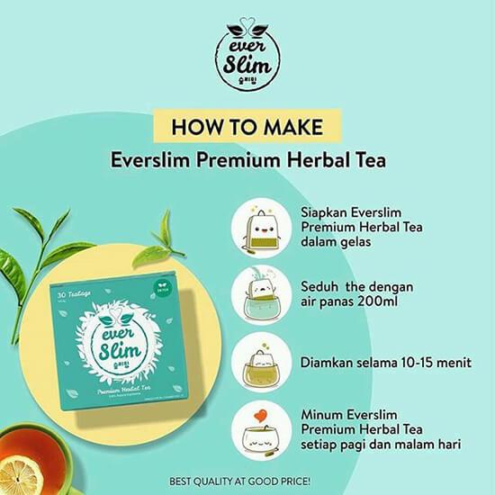 cara minum everslim tea