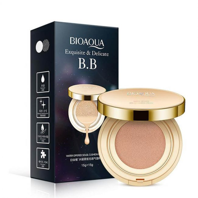 bedak bioaqua cushion gold