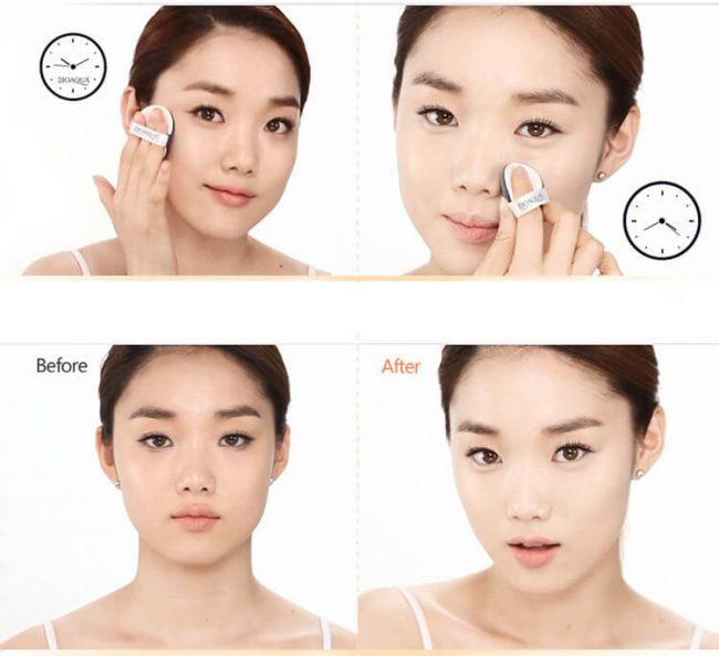 how to use bedak bioaqua cushion